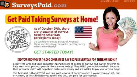 3.	Online paid survey jobs part time and full time available.