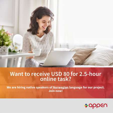 Hiring Native Norwegian Speakers for a Speech Collection Project (Earn 80 USD)